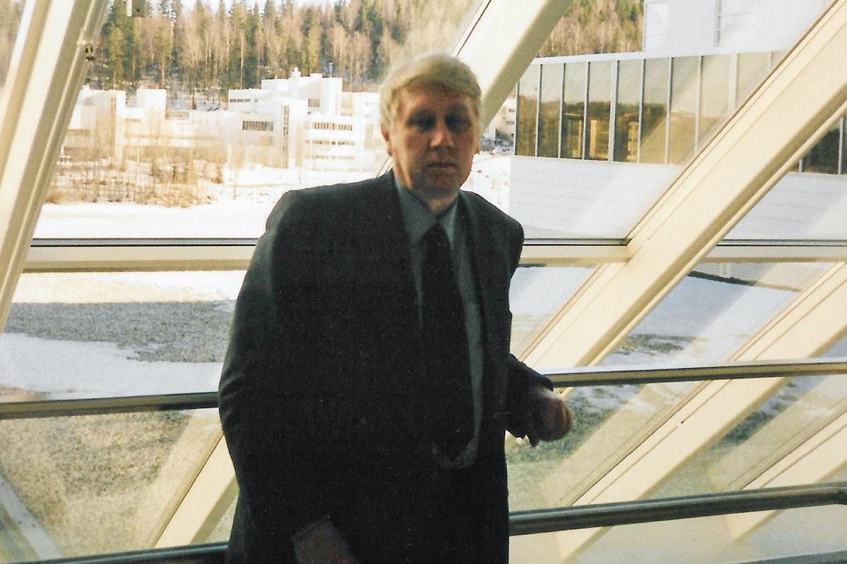 Научный руководитель Максима Фролова – профессор Сергей Игоревич Репин в Университете Йювяскюля, 2001