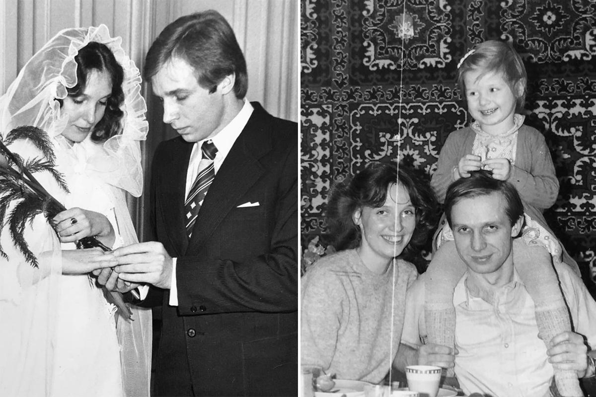 Свадьба Анны Лимоновой и Юрия Дьякова. Анна, Юрий и дочка Марианна