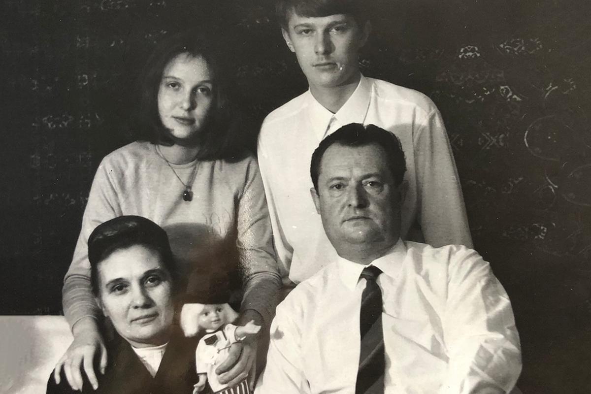 Феликс Михайлович Лимонов, его супруга Екатерина Ивановна и дети Анна и Михаил