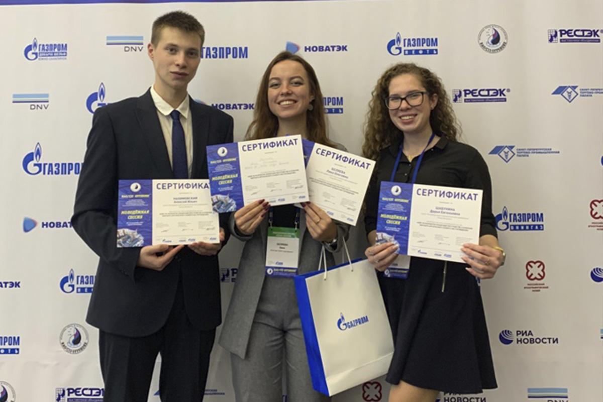 Политехники Алексей Нахимовский, Лика Беляева и Дарья Шабунина