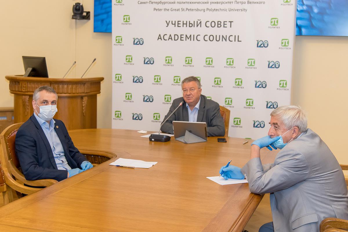 Олег Аксютин и Андрей Рудской обсудили перспективы взаимодействия ПАО «Газпром» и СПбПУ