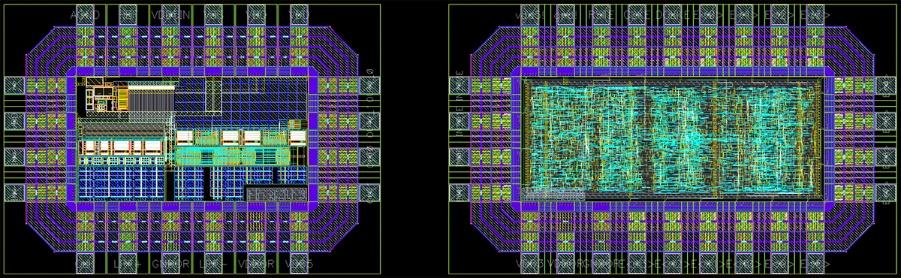 Микрофотография кристалла интегральной схемы высокотемпературного дельта-сигма АЦП